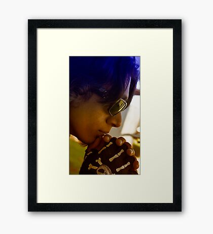 Omar in Thought Framed Print