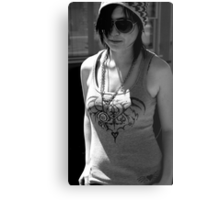 Lauren Black and White Canvas Print