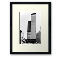 World Trade Center 1971 the Other Side Framed Print