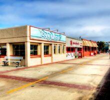 Hermosa Beach Boardwalk by Eddie Yerkish