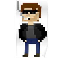 Pixel Hank Moody Poster