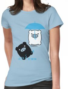 TWINPIGS 3 (BLUE) Womens Fitted T-Shirt