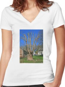 The Martyr's Tree Women's Fitted V-Neck T-Shirt