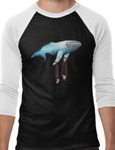 Marionette Whale Men's Baseball ¾ T-Shirt