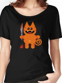 KAT 2 (Cute pet with a sharp knife!) Women's Relaxed Fit T-Shirt