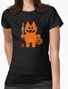 KAT 2 (Cute pet with a sharp knife!) Womens Fitted T-Shirt