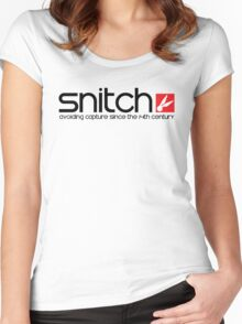Snitch x Swatch Logo Parody Women's Fitted Scoop T-Shirt