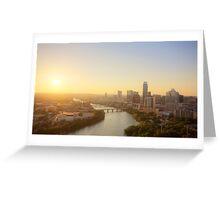 Austin Sunset Greeting Card