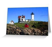 "Cape Neddick ""Nubble"" Lighthouse Greeting Card"
