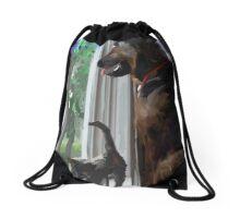 Zeus and Ziva Love Drawstring Bag