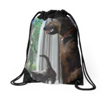 Zeus and Ziva Love Drawstring Bag