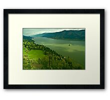 The Mighty Columbia River Framed Print