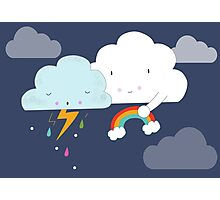 Get well soon little cloud Photographic Print