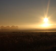 winter sun-up Maryborough Victoria by John Julian