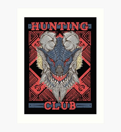 Hunting Club: Stygian Zinogre Art Print