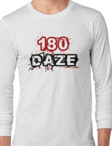 180 DAZE - Full Chest_Black Long Sleeve T-Shirt