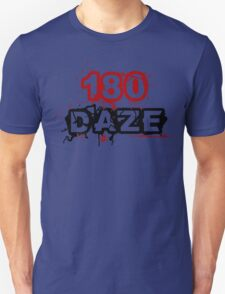 180 DAZE - Full Chest_Black T-Shirt
