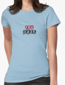 180 DAZE - Chest_Black Womens Fitted T-Shirt