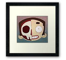 Half Face Framed Print