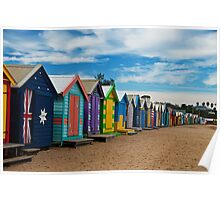 BRIGHTon Beach Boxes - Melbourne Poster