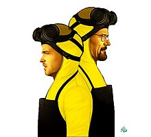 Breaking Bad - Jesse and Walt - Full Color by Gabe Hales