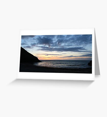 Wide Angle Cwmtydu Sunset Greeting Card