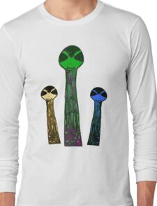 cellular evaporation Long Sleeve T-Shirt