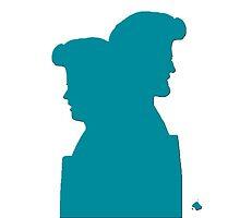 Breaking Bad - Jesse and Walt - Meth Blue by Gabe Hales