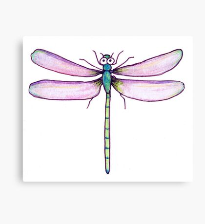 Drawing Day Dragonfly Canvas Print