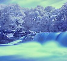Richmond Waterfall in Infrared by Guy Carpenter