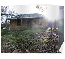 Denmans Cottage in the afternoon sun, Hill End, NSW Poster
