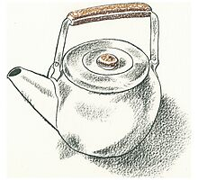 Drawing Day - Teapot Photographic Print