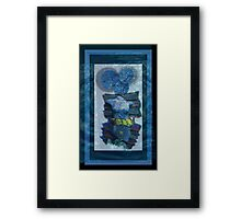 mystery and the blue face Framed Print