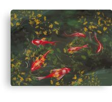 Autumn Koi Canvas Print