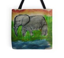 Elephant, watercolor Tote Bag