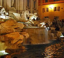 Trevi by Night - Rome by bevanimage