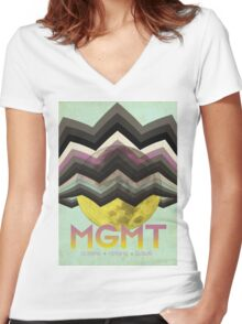 MGMT Tour Poster Women's Fitted V-Neck T-Shirt