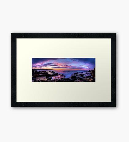 Rainbow sky Framed Print