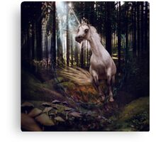 Fleeing Into The Forest Canvas Print