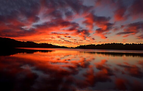 Reflections Of Day #2 - Narrabeen Lakes,Sydney - The HDR Experience by Philip Johnson
