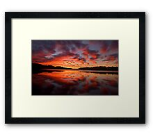 Reflections Of Day #2 - Narrabeen Lakes,Sydney - The HDR Experience Framed Print