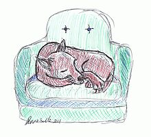 Cuda on the Couch: Drawing Day 2011 by Diana-Lee Saville