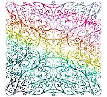 Drawing Day Inky Spirals V2 (Rainbow) by Sybille Sterk