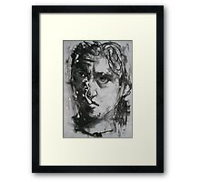 Self Portrait drawing day 2011 Framed Print