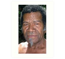 A Senior Citizen of the Island of Wala, Vanuatu. Art Print