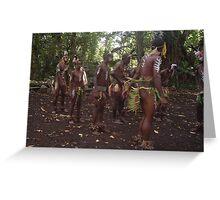 The Jungle Men on Wala Island. Greeting Card