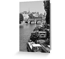 Living on the Seine Greeting Card