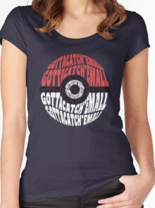 Typo ball Women's Fitted Scoop T-Shirt