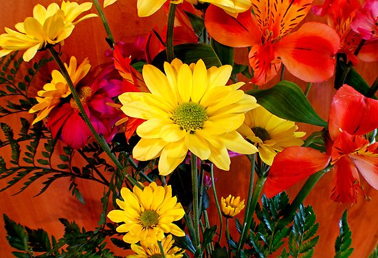 Bouquet of Daisies by Debbie Pinard