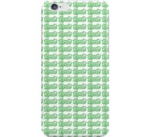 Karate Background Text Green  iPhone Case/Skin